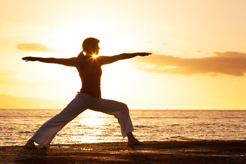 The Warrior Pose is great for healing the third chakra.